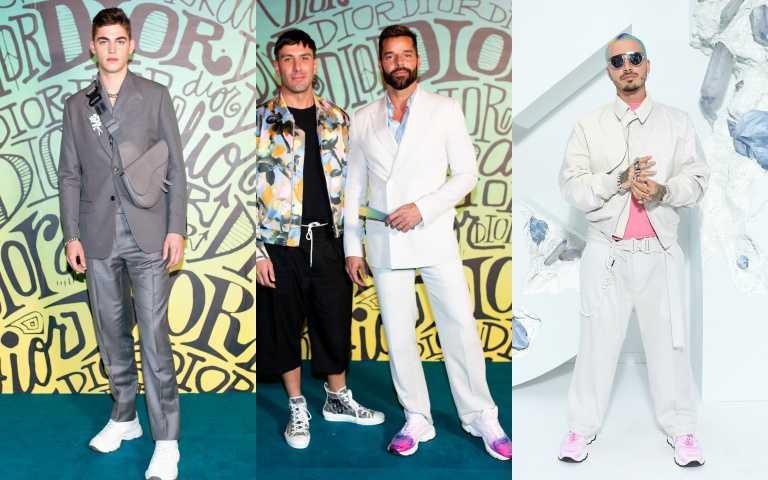 左起: 帥氣男模Hero Fiennes-Tiffin、瑞奇馬汀Ricky Martin、拉丁天王J Balvin都穿上CD1運動鞋。(圖/品牌提供)