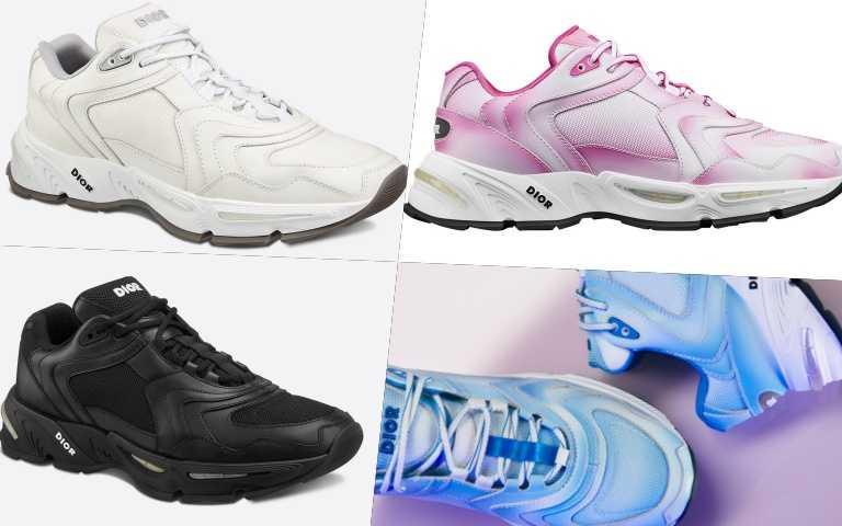 CD1運動鞋推出各種色系供選擇,也有漸層色系唷!黑白色款/36,000元、其他色款/40,000元(圖/品牌提供)