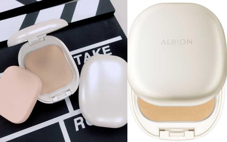 ALBION皙潤雪膚輕感粉餅 SPF25 PA++/1,680 元(粉蕊1,350元/粉盒330元) (圖/黃筱婷攝影、品牌提供)