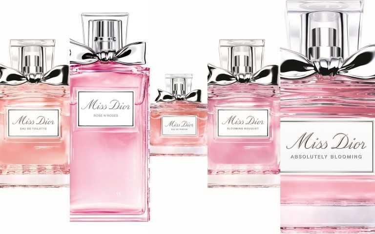 【Miss Dior系列】目前總共有五款不同個性的玫瑰愛戀香氣,就像女人的貼心閨蜜,不同心情使用不同的香氛,展現你的各種面貌!(圖/品牌提供)