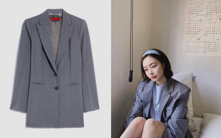 編輯推薦相似款: MAX&Co.2020早秋系列灰色西裝外套/24,800元(圖/翻攝自IG、品牌提供)