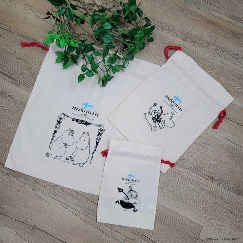 適用禮物包裝的棉布禮品袋,送禮或是收納都很可以。