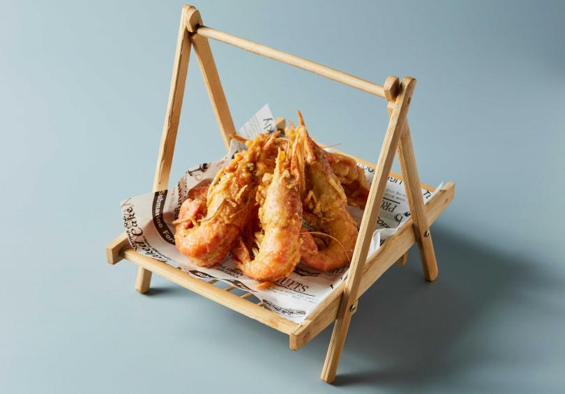 黃金流沙蝦490元,限時外帶88折。