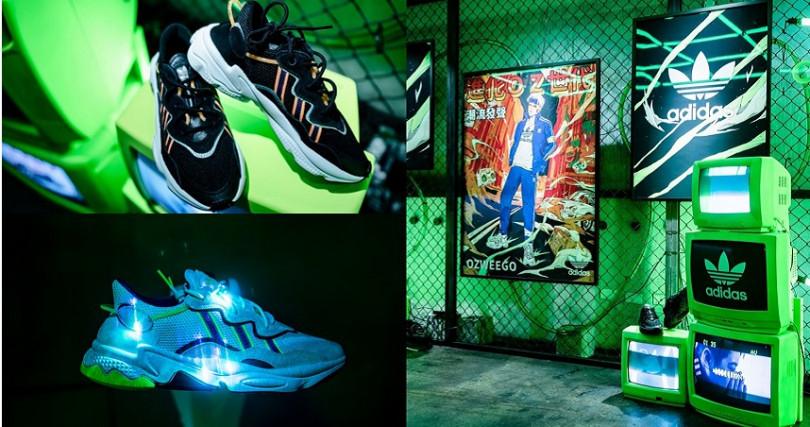 原創放送基地打造出街頭潮流感,讓人眼睛為之一亮。(圖/adidas Originals提供)
