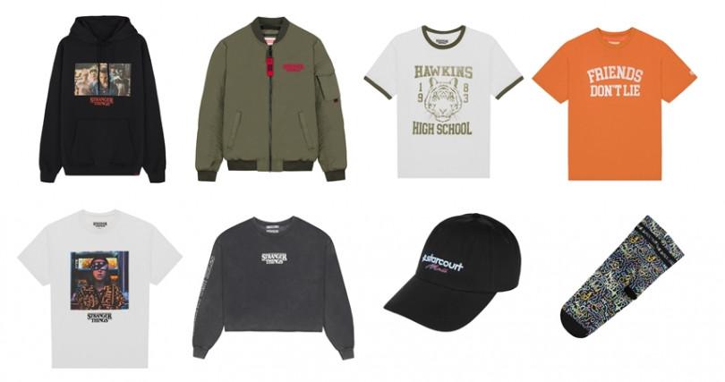 聯名系列品項包括連帽T、飛行夾克、圖案&Logo T、帽子、襪子等相當豐富。(圖/Pull&Bear提供)