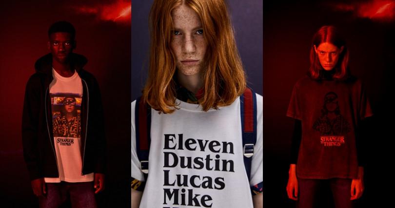 以女主角Eleven為設計概念的圖案及文字設計更添神秘氣氛。(圖/Pull&Bear提供)
