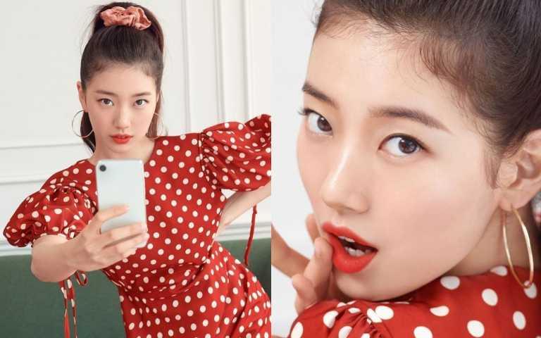 秀智拍攝最新韓國LANCOME廣告!擦上最搶眼的蘭蔻唇膏,看了好想要!(圖/秀智IG)