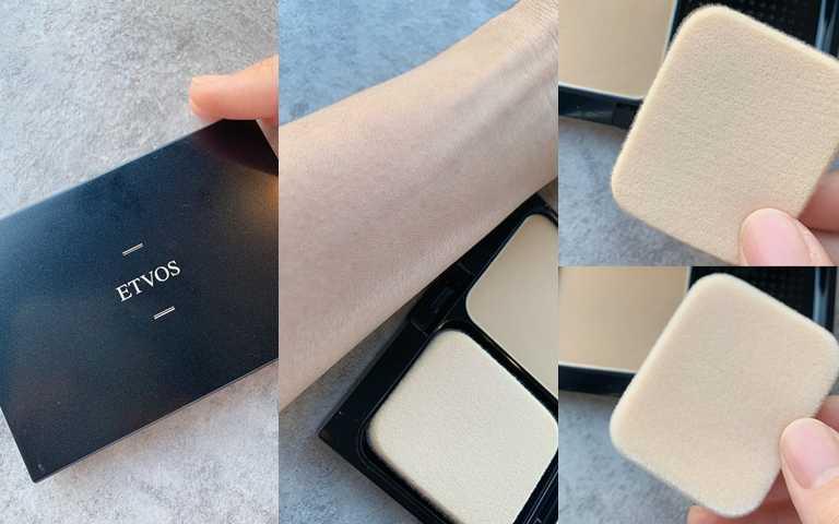 ETVOS恆久霧感防曬礦物粉餅/1,980元絲絨+海綿的雙面粉撲式設計,妳可以依照想呈現的妝效來區分使用。(圖/吳雅鈴攝)