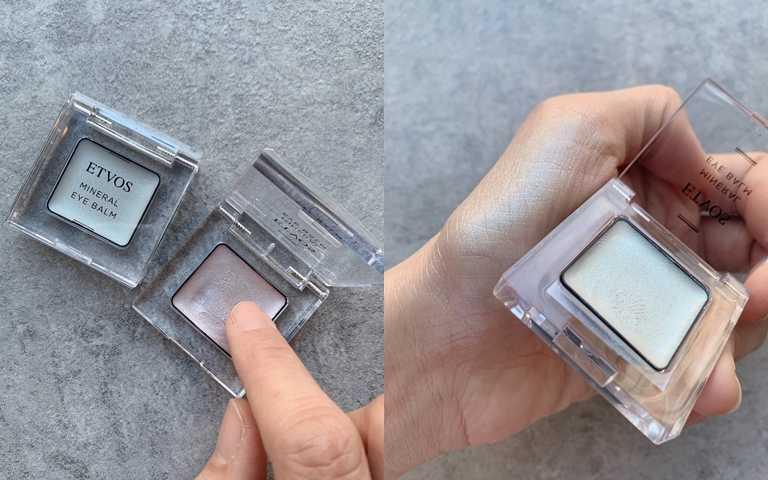 ETVOS恆耀光感礦物眼彩膏/1,080元奶霜般的質地只要2秒就能掃除暗沉提亮眼周,在日本每回開賣反應都很熱烈。(圖/吳雅鈴攝)