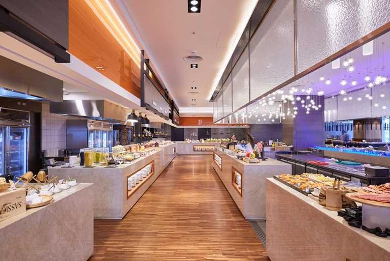 除了住宿外,台北凱達大飯店還推出滿千送三百的餐飲優惠。