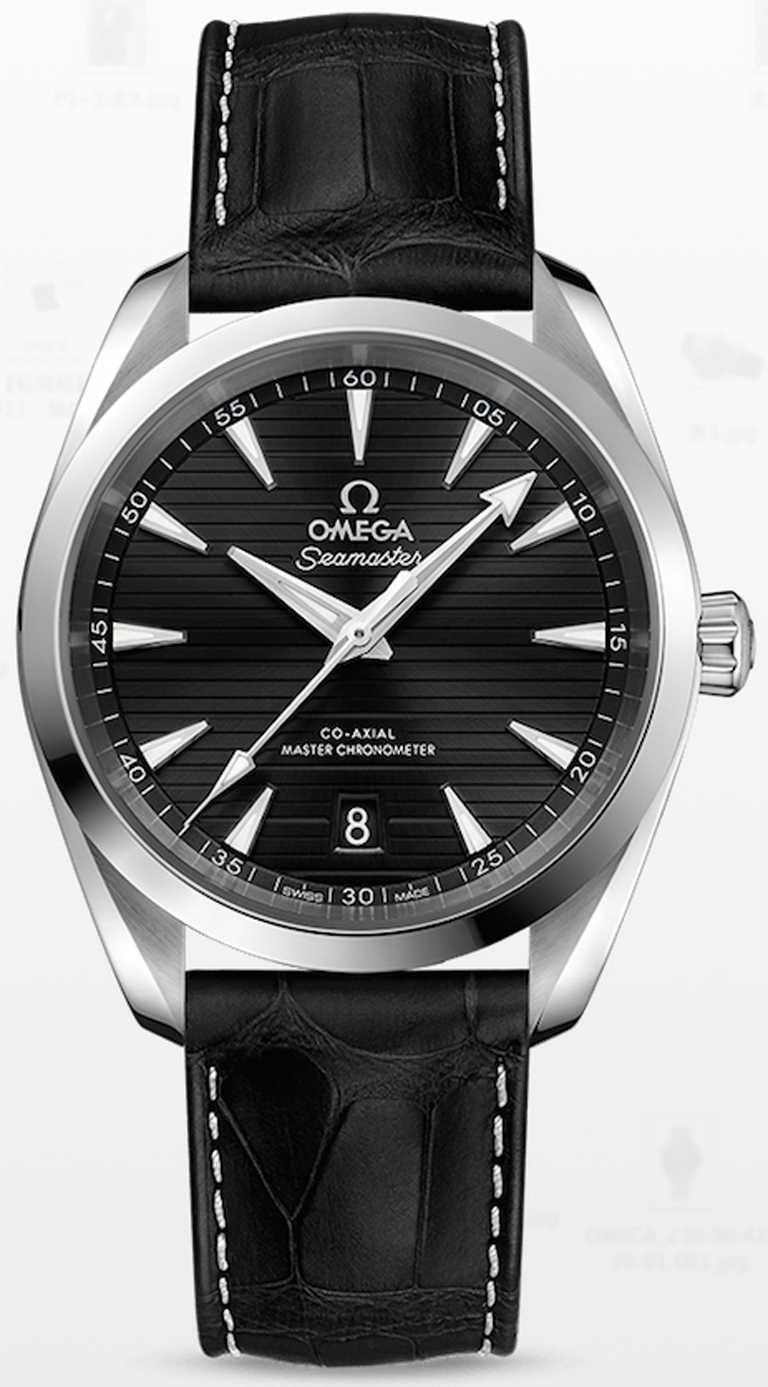OMEGA「Seamaster海馬」系列150米,Aqua Terra同軸擒縱大師天文台腕錶,38mm,不鏽鋼錶殼,8800型自動上鏈機芯╱177,000元(不含NATO錶帶)。(圖╱OMEGA提供)