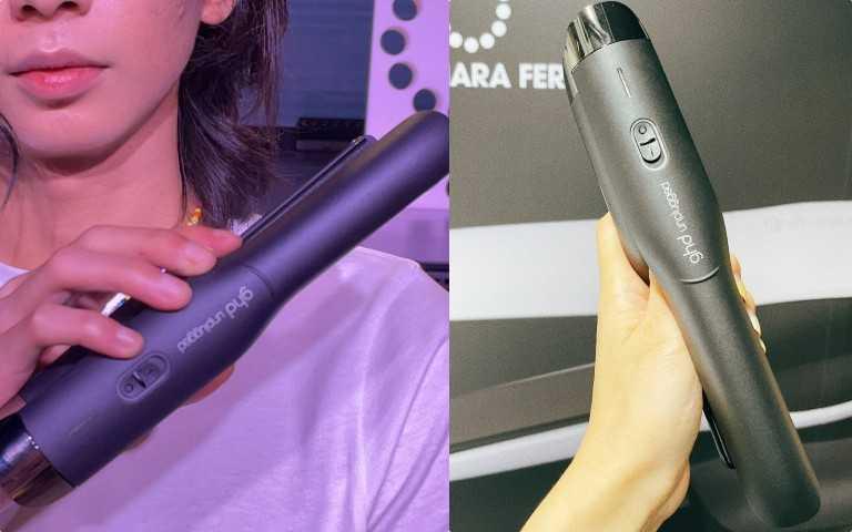 ghdunplugged無線造型夾(兩年全球保固)黑色/12,500元,內含:ghd無線造型夾、USB-C充電線、USB-C國際電壓充電器、無線造型夾專屬隔熱包(圖╱黃筱婷攝影)