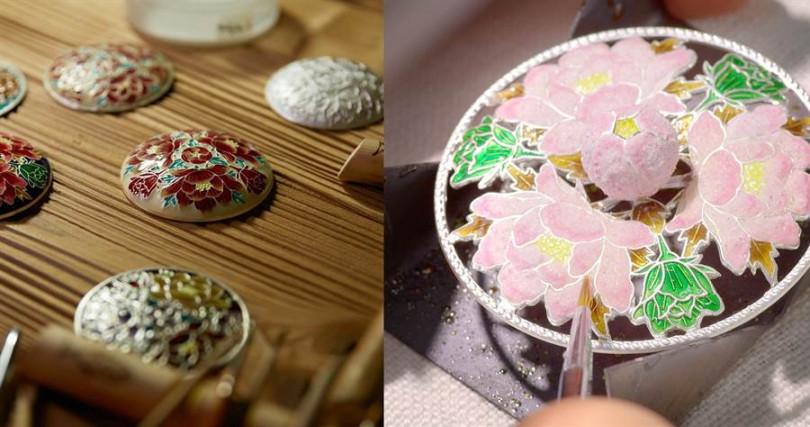 需要經過多達數十道手續才能完成的七寶搪瓷工藝,本人真的極美!(圖/品牌提供)
