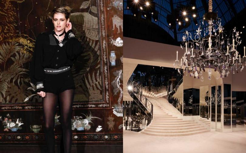 在巴黎大皇宮正廳重現康朋街31號,模特兒出場的迴旋鏡梯是最為經典的橋段。(圖/品牌提供)