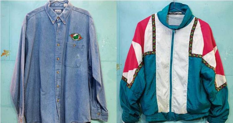 牛仔外套/780元(左)。風衣外套/880元。(在KOUZOU購得)(圖/林勝發攝)