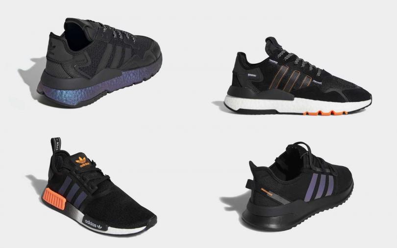 NITE JOGGER(男女) NT5,290、NITE JOGGER(男鞋) NT4,890、NMD_R1(男鞋) NT5,290、U_PATH RUN(男女) NT3,090。(圖/adidas Originals)
