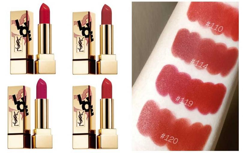 YSL奢華緞面唇膏愛戀纏綿版 全4色/1,480元  不同濃烈度的紅,一定能找到一款最適合自己的。(圖/品牌提供、翻攝小紅書)