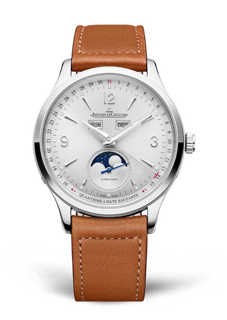 JAEGER-LECOULTRE「Master Control Calendar」大師系列日曆腕錶,精鋼錶殼╱價格店洽。(圖╱JAEGER-LECOULTRE提供)