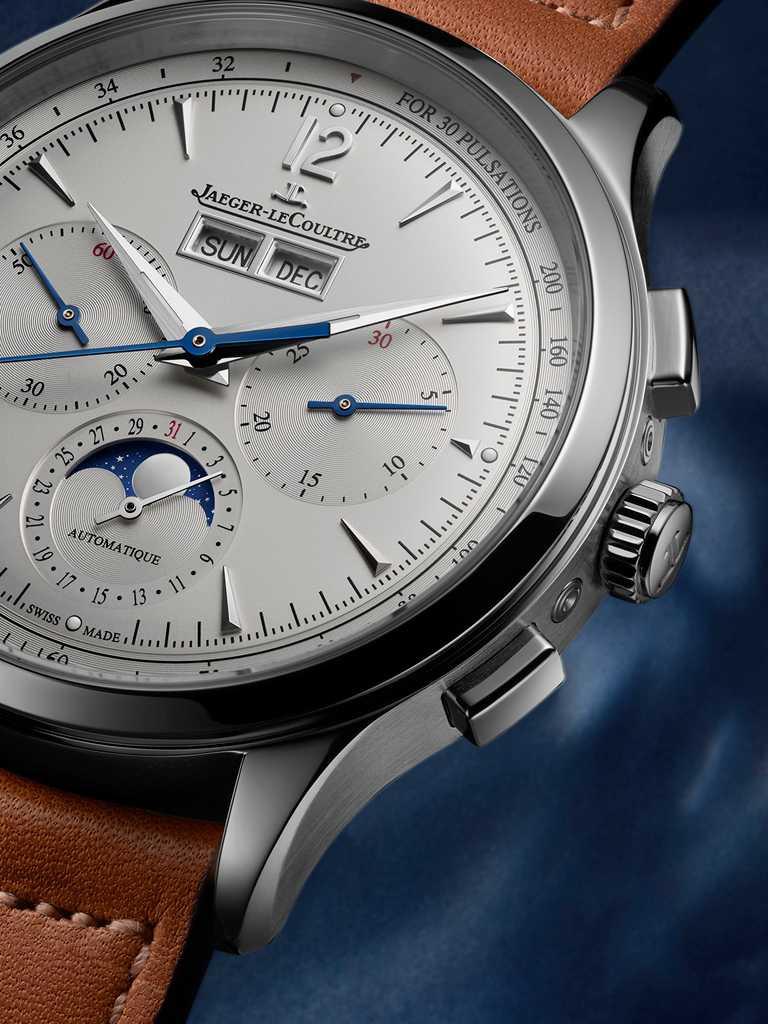 JAEGER-LECOULTRE「Master Control Chronograph Calendar」大師系列計時日曆腕錶,精鋼錶殼╱價格店洽。(圖╱JAEGER-LECOULTRE提供)