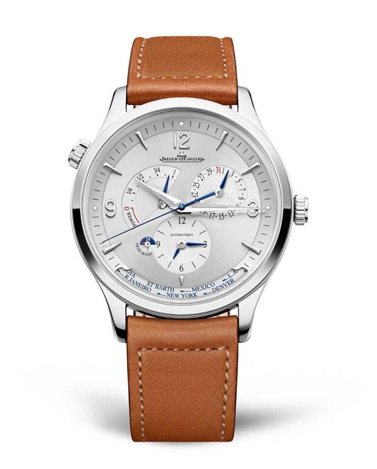 JAEGER-LECOULTRE「Master Control Geographic」大師系列地理學家腕錶,精鋼錶殼╱價格店洽。(圖╱JAEGER-LECOULTRE提供)
