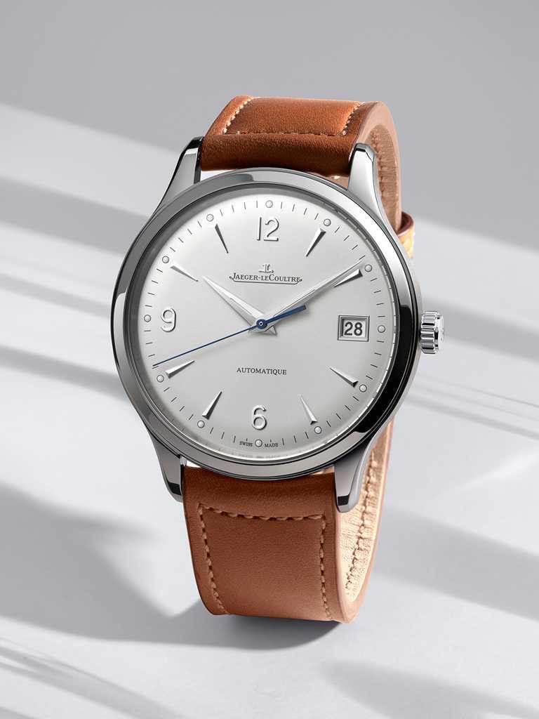 JAEGER-LECOULTRE「Master Control Date」大師系列日期顯示腕錶,精鋼錶殼╱價格店洽。(圖╱JAEGER-LECOULTRE提供)