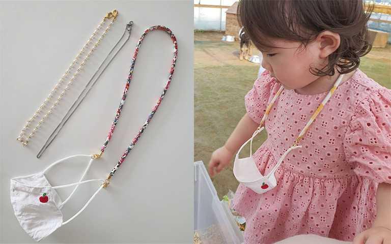 童趣的串珠設計,小朋友使用也不突兀很可愛。(圖/by_hem_ IG,needcasesc IG)