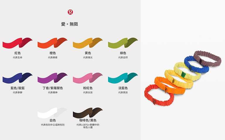 Skinny Scrunchie彩色髮圈(六入)NT$920。(圖/lululemon提供)