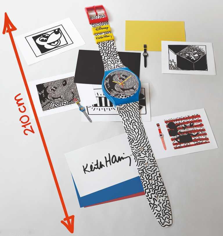 SWATCH「Maxi Electic Mickey電流米奇」大錶壁飾╱210mm,15,750元。(圖╱SWATCH提供)