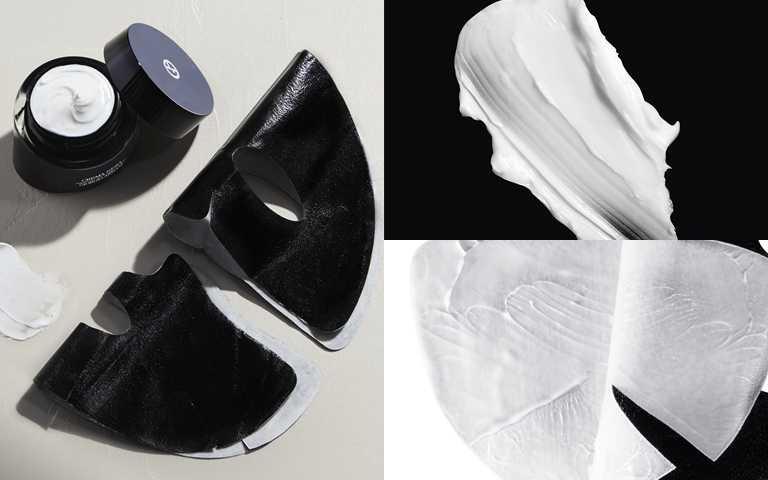 GIORGIO ARMANI黑曜岩新生奇蹟黑霜面膜 一盒5片/8,000元(圖/品牌提供)