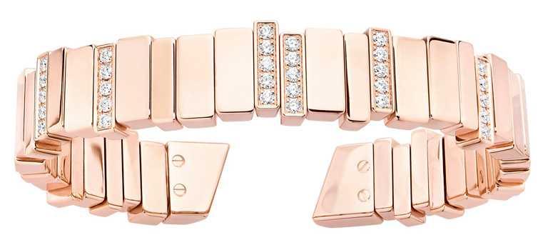 DIOR「Gem Dior」玫瑰金鑽石手鐲╱910,000元。(圖╱DIOR提供)