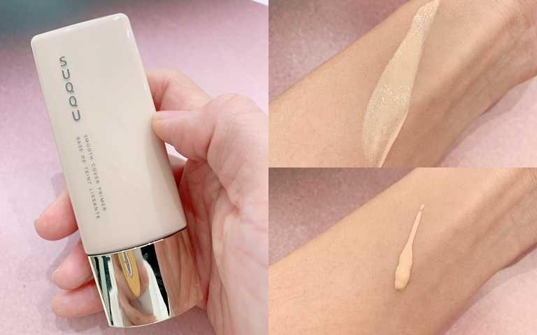 SUQQU晶采柔肌粧前乳 30ml/2,300元  可以打造明亮膚色的米白色,任何人都OK。(圖/吳雅鈴攝影)