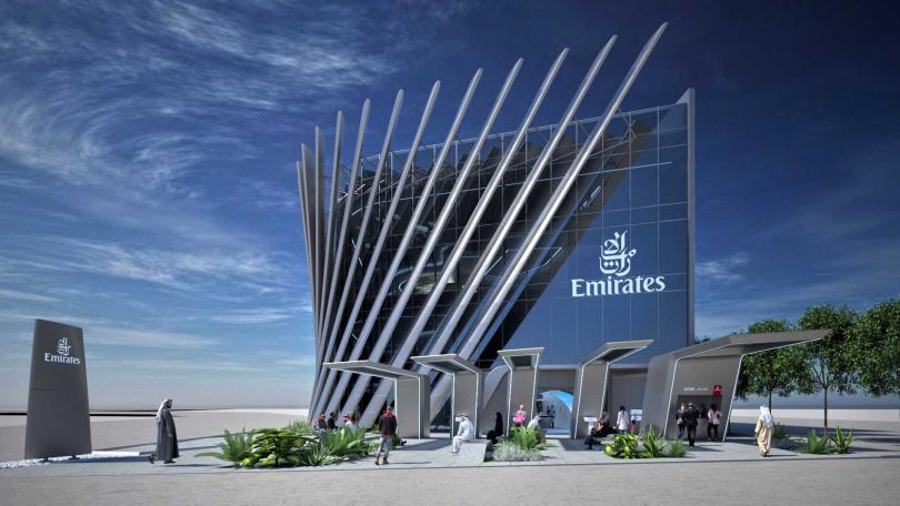 阿聯酋航空展館提供沉浸式體驗,讓旅客和航空愛好者能一窺未來機艙設計。