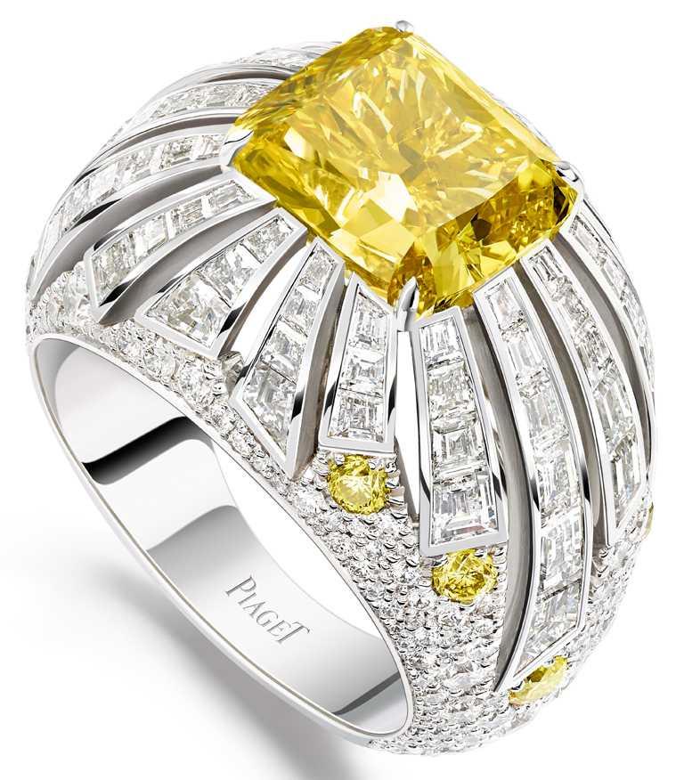 PIAGET「Sunlight Escape」系列頂級珠寶戒指╱20,100,000元。(圖╱台北101提供)