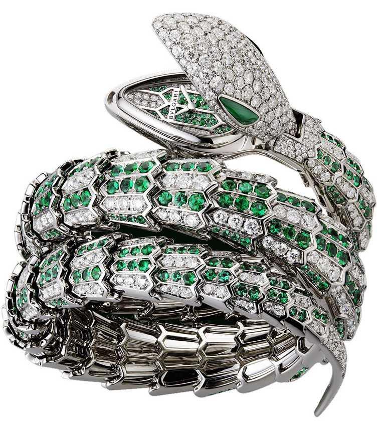 BVLGARI「Serpenti」系列頂級神秘珠寶錶╱13,798,000元。(圖╱台北101提供)