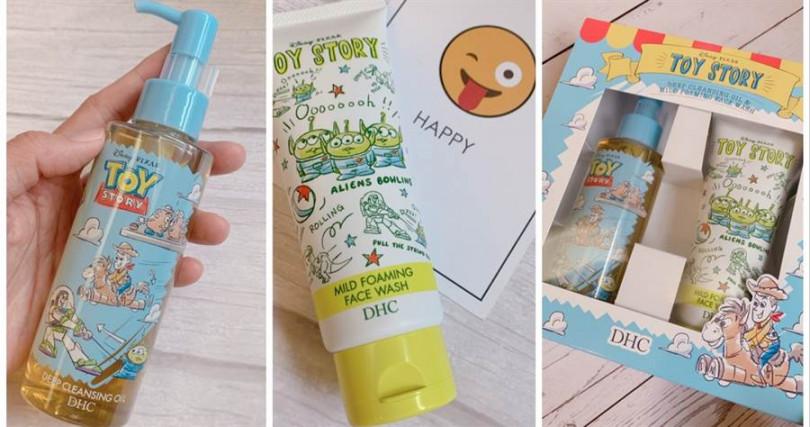 DHC*Toy Story玩具總動員洗卸淨膚組/980元  裡面是120ml深層卸妝油(M)跟100g純欖滋養洗面乳的組合。(圖/吳雅鈴攝影)