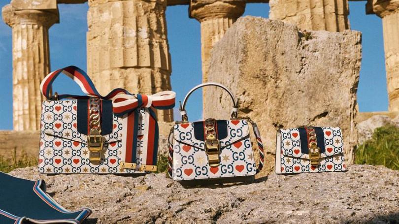 Gucci Sylvie系列七夕情人節限定款小型肩背包/NT111,200,迷你手提包/NT93,400,超迷你鍊帶小包/NT46,200
