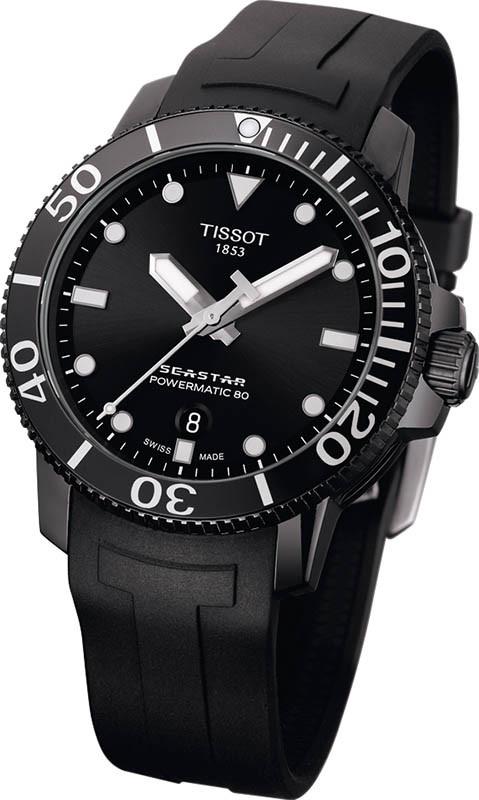TISSOTSeastar 660/1000錶殼:不鏽鋼材質/錶徑43mm機芯:Powermatic 80自動上鍊/振頻每小時21,600次/儲能80小時功能:大三針/日期防水:300米定價:26,700元