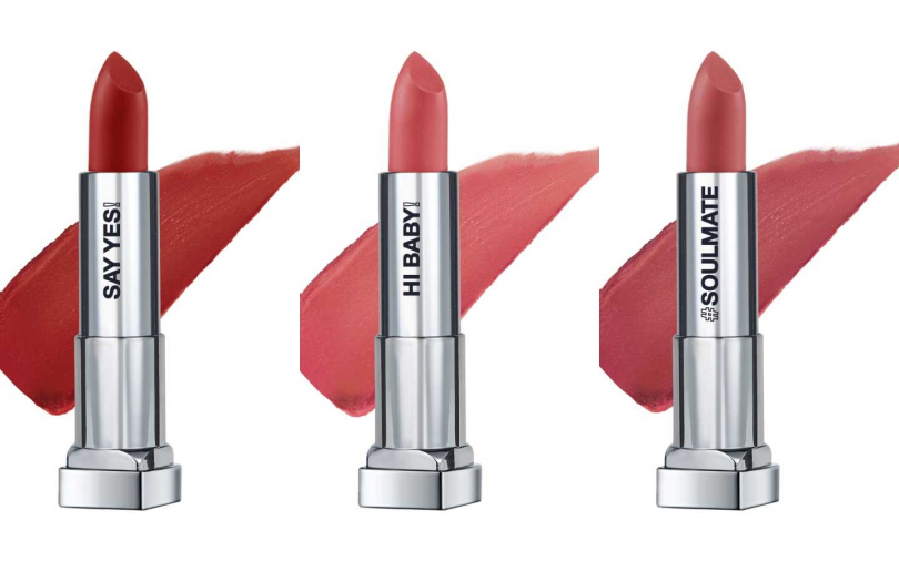 左至右,MAYBELLINE絲絨霧光唇膏(#604、#806、#807):如奶油般絲滑勻潤的質地,塗抹瞬間就能感受仿彿觸碰滑順、絨密的高級絲絨唇。