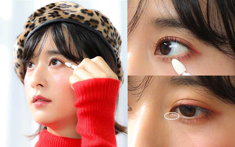 簡單三步驟就能畫出時髦清新的紅眼妝,微微紅色更帶點無辜味。(圖/愛女生一月號)