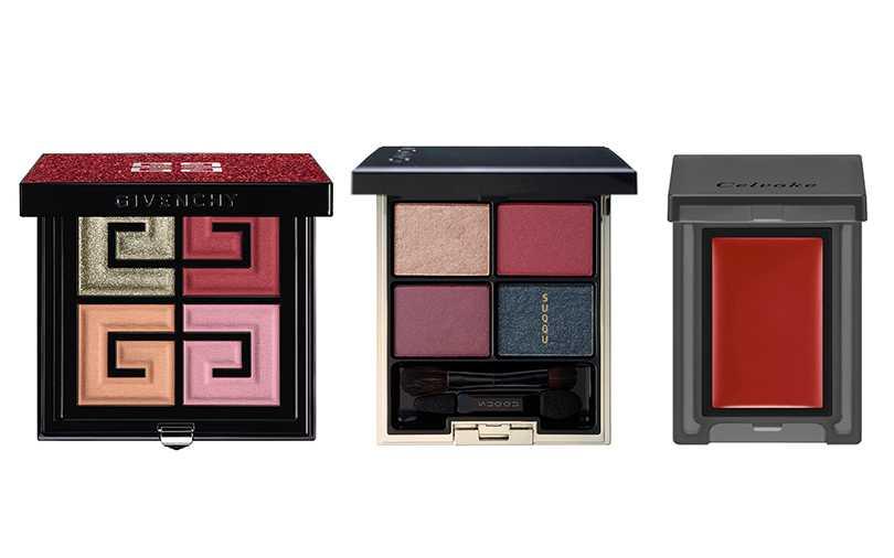紅色眼妝可以堆疊粉、紫色搭配使用,少量點綴就有不同感受。(圖/各品牌提供)