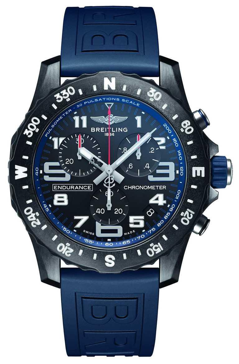 BREITLING「Professional」專業系列「Endurance Pro」腕錶, 44mm,Breitlight®錶殼,藍色錶圈╱92,000元。(圖╱BREITLING提供)