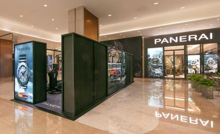 沛納海高雄義享天地專賣店外,自即日起至10月26日,特別設有「Luna Rossa Prada Pirelli挑戰活動」快閃區。(圖╱PANERAI提供)