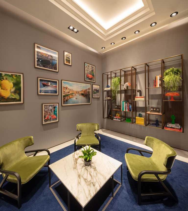 沛納海高雄義享天地專賣店內的VIP室,每處細節皆融入濃厚的義式文化情懷。(圖╱PANERAI提供)