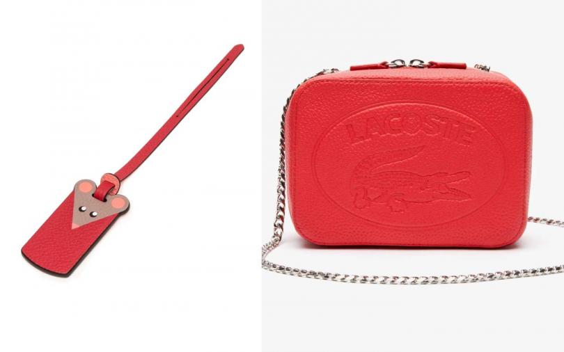 MOYNAT經 鼠年限定Mosaïque皮革鑲嵌系列吊飾/13,300元,LACOSTE SS20 鱷魚小姐系列/6,780元。(圖/品牌提供)