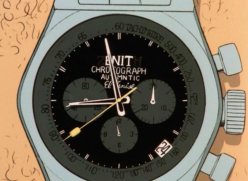ZENITH腕錶,曾兩度出現在漫畫《魯邦三世》首部電視版第一集中。(圖╱ZENITH提供)