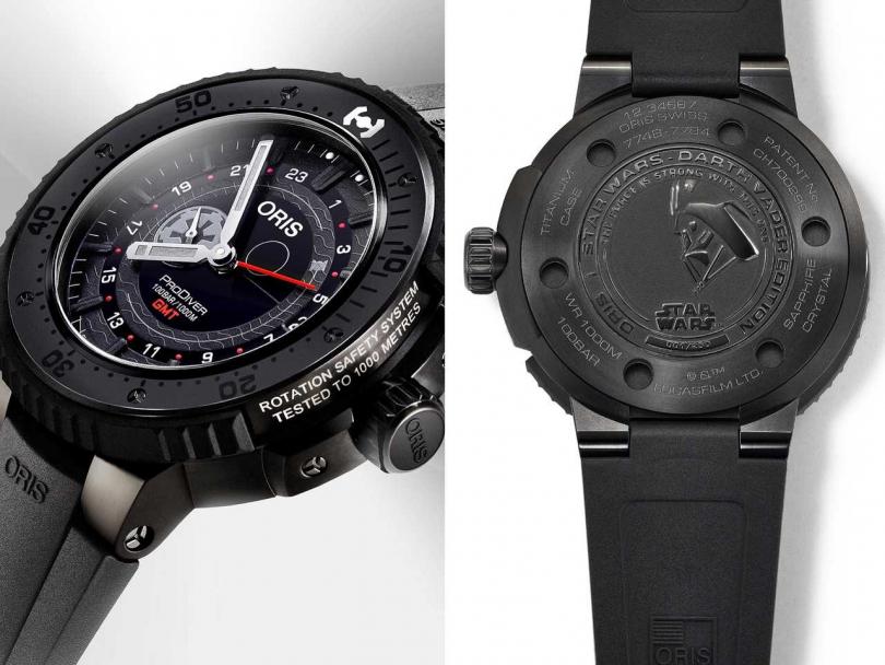 ORIS「DARTH VADER黑武士」星際大戰限量錶╱118,000元(圖╱ORIS提供)