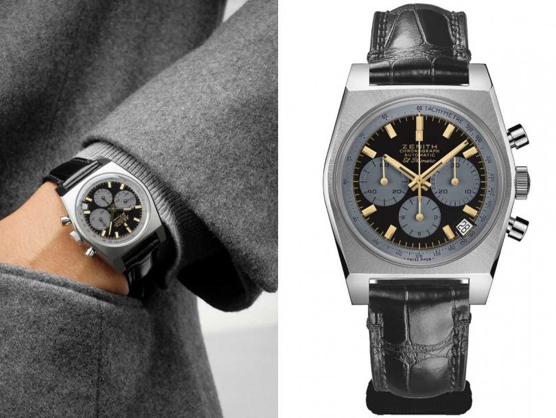 ZENITH「A384 Revival魯邦三世」特別版聯名腕錶╱900,000日元(圖╱ZENITH提供)