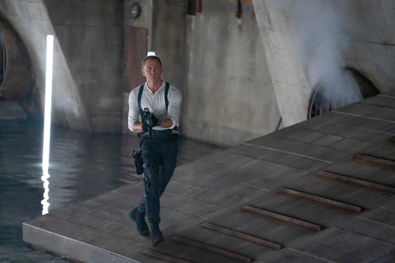 丹尼爾克雷格是第5度詮釋007中的英國特務,這也是他最後一次飾演龐德。(圖/UIP提供)