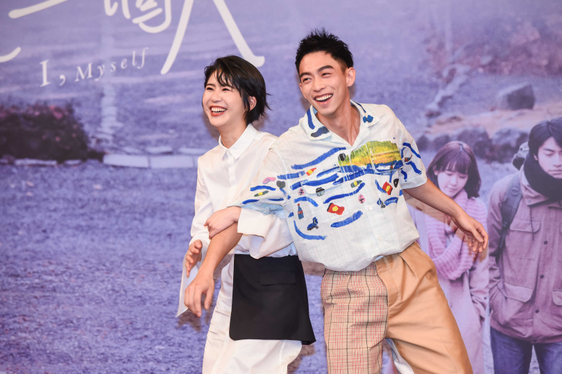 陳璇、王可元因拍戲結為好友。(圖/張祐銘攝)