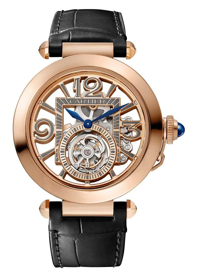 CARTIER「Pasha de Cartier系列」腕錶,18K玫瑰金錶殼,錶徑41mm╱3,060,000元。(圖╱CARTIER提供)